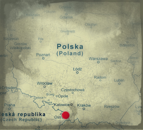 Mapa Cieszyn