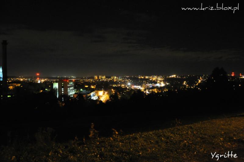 widok Cieszyn nocą